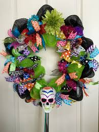 day of the dead flower and skull wreath target fall halloween