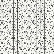 Wallpaper For Kitchen by Modern Geometric Black Fan Wallpaper Walls Republic