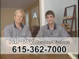 all dry basement systems in nashville tennessee youtube