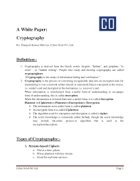 white paper on cryptography