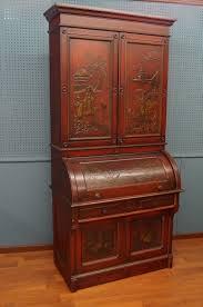 Antique Slant Top Desk Worth Antique Cylinder Roll Top Desk Chinoiserie Berkey Victorian