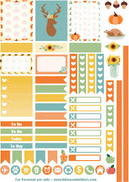 thanksgiving planner stickers munchkins and the