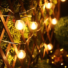Vintage Globe String Lights holigoo g40 led bulb outdoor globe string lights vintage hanging