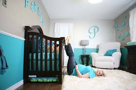 Blue Room Decor Bedroom Fabulous Baby Bedroom Design With Modern Two Tone Blue