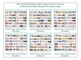 Silent Letters Worksheets Phonics Vowel Teams Ee Ea Ei Ey Ie Ui 6 Worksheet Bundle By