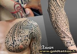 gold tattoo paris 18e tatouage tribal polynesien classique et old