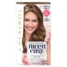 light golden brown hair color nice n easy hair dye light golden brown 6g from ocado