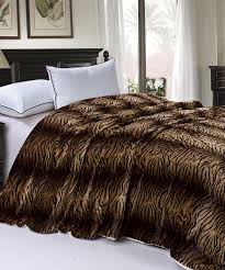 Fake Fur Blanket Animal Faux Fur Sherpa Backed Blankets Bnf Home Inc