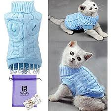 sweaters for cats amazon com bro cable knit turtleneck sweater for small dogs