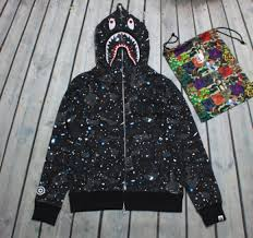 top shark men women bape hoodie jacket coat noctilucent for sale