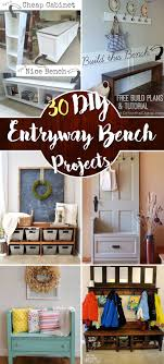 diy entryway bench the best 30 diy entryway bench projects cute diy projects