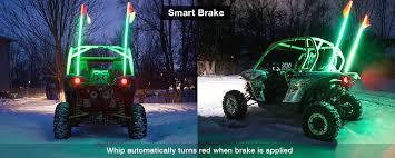 led light whip for atv 2x whip xkchrome advanced app control led whip light kit for 4x4