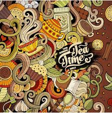 coffee shop background design cartoon hand drawn doodles cafe coffee shop illustration colorful