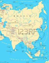 asia political map caspian sea region political map with most important cities