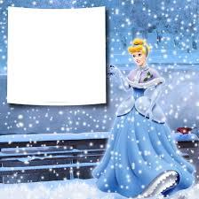 transparent christmas winter princess cinderella png photo frame