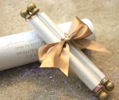 wedding scroll invitations wedding invitation scrolls gold flower scroll invitation sle