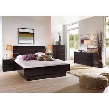 4 pcs queen bedroom furniture set headboard bed platform chest