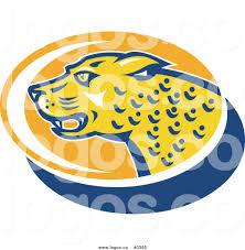 jaguar clipart royalty free vector of a jaguar head logo by patrimonio 3385