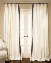 Curtain Trim Ideas Great White Curtains With Black Trim And Best 25 Curtains