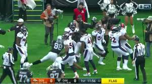 Oakland Raiders American Flag Aqib Talib Michael Crabtree Fight Raiders Vs Broncos Video Si Com