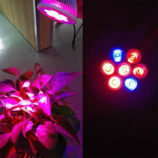 red and blue led grow lights lumiparty e27 7w led plant grow light red blue 7 leds grow l