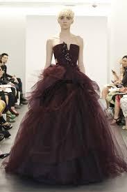 wedding dress maroon wedding dress trend two tone bridal gowns vera wang maroon ballgown