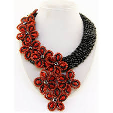 red flower necklace images Red flower necklace jpg