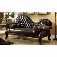 Tufted Leather Chaise Chaise Lounge Chairs