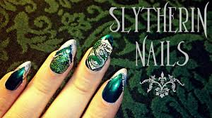 harry potter slytherin nail art youtube