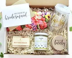Will You Be My Maid Of Honor Gift Will You Be My Bridesmaid Gift Box Blushing Bridesmaid