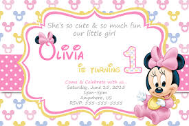 baby minnie mouse 1st birthday invitations partyexpressinvitations