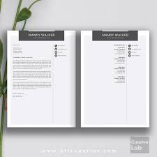 Creative Resume Templates For Word Creative Resume Template Cover Letter Word Modern Simple