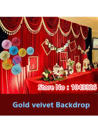 wedding backdrop sign 3 3m 3 6m luxury gold velvet cloth sign everywhere velvet wedding