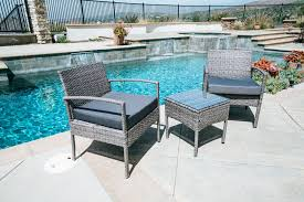 Patio Furniture Table And Chairs Set - 3pc rattan wicker bistro sofa set coffee table chair outdoor patio