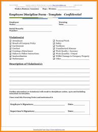 7 printable employee write up forms laredo roses
