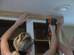 Molding On Kitchen Cabinets Install Crown Molding On Kitchen Cabinets How Tos Diy