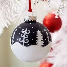 whimsical white tree chalkboard ornament