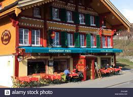 swiss hotels bars and restaurants ski resort of grindelwald