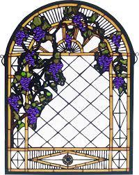 Diamond Trellis Panels Grape Diamond Trellis Stained Glass Window Meyda Tiffany