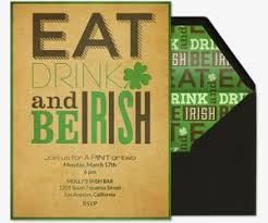 st patrick u0027s day free online invitations luck o u0027 the irish