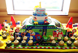 interior design train themed birthday party decorations