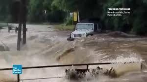 jeep water wall of water washes jeep down river the weather channel