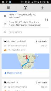 Map Direction Androidians Driving Direction Between Two Locations In Android
