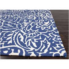 navy blue and white area rugs chenille reverible tweed braided