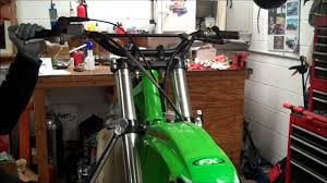 kx250 fork removal u0026 install youtube