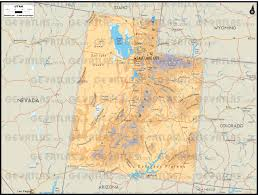 Map Of Arizona And Utah by Geoatlas Us States Utah Map City Illustrator Fully