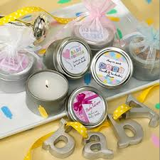 baby shower candle favors baby shower travel candle personalized favors personalized