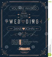 You Are Invited Card Vintage Wedding Invitation Card Template Stock Vector Image