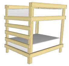 DIY Bunk Bed Plans  Ideas That Will Save A Lot Of Bedroom Space - Simple bunk bed plans