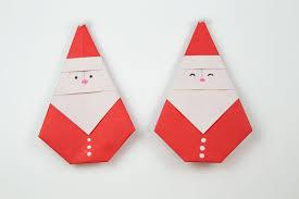 how to make a cute origami santa